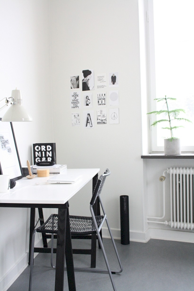 Neat and clean minimalist workspace design ideas for your home 22