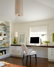 Neat and clean minimalist workspace design ideas for your home 26