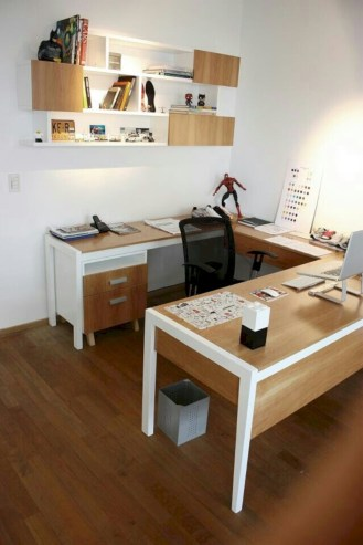 Neat and clean minimalist workspace design ideas for your home 32