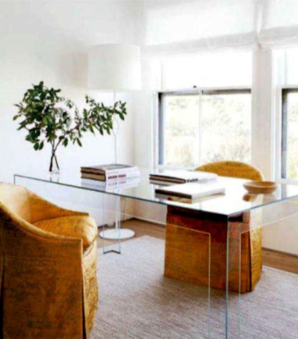 Neat and clean minimalist workspace design ideas for your home 33