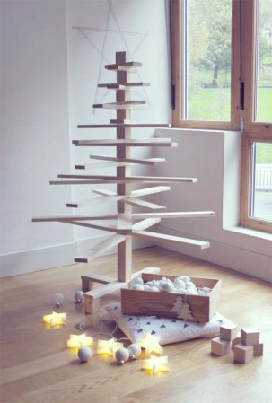 Non-traditional christmas tree to give to your home 17