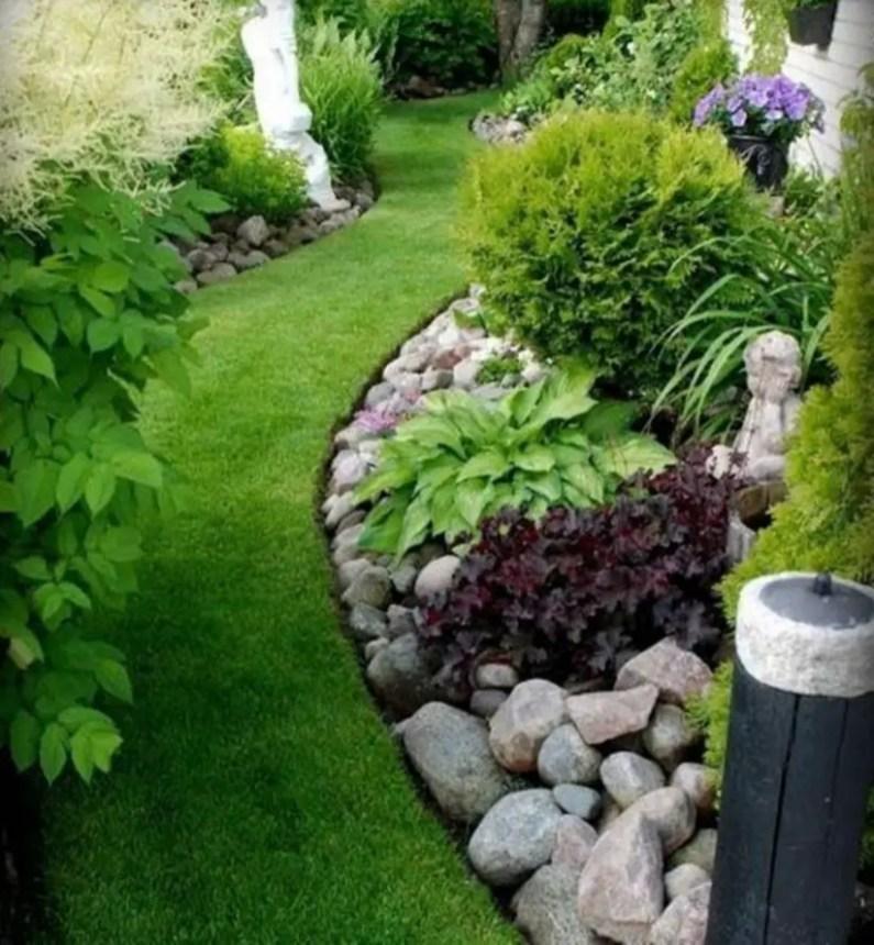 Outdoor garden decor landscaping flower beds ideas 03
