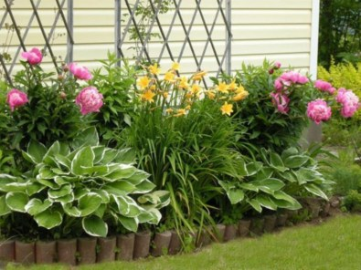 Outdoor garden decor landscaping flower beds ideas 06