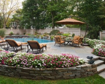 Outdoor garden decor landscaping flower beds ideas 09