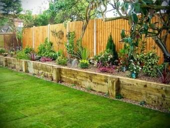 Outdoor garden decor landscaping flower beds ideas 15