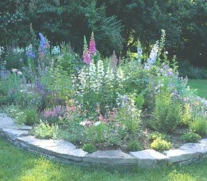 Outdoor garden decor landscaping flower beds ideas 16