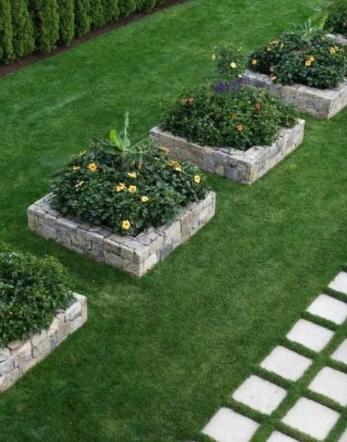 Outdoor garden decor landscaping flower beds ideas 27