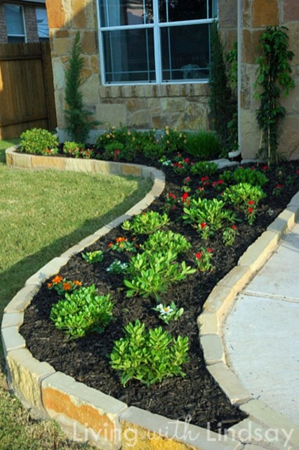 Outdoor garden decor landscaping flower beds ideas 28