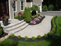 Outdoor garden decor landscaping flower beds ideas 36