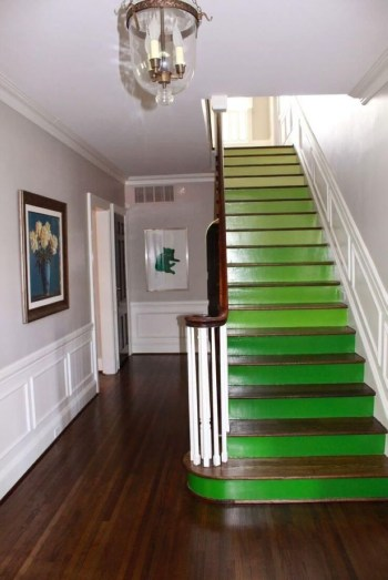 Painted staircase ideas which make your stairs look new 03