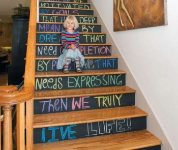 Painted staircase ideas which make your stairs look new 11