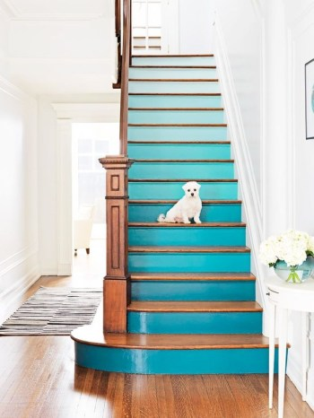 Painted staircase ideas which make your stairs look new 16