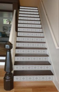 Painted staircase ideas which make your stairs look new 18
