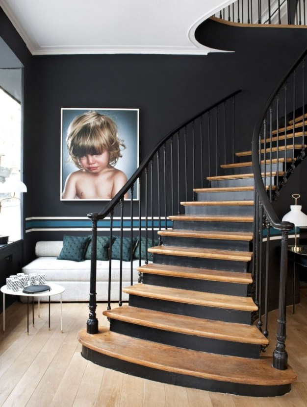 Painted staircase ideas which make your stairs look new 19