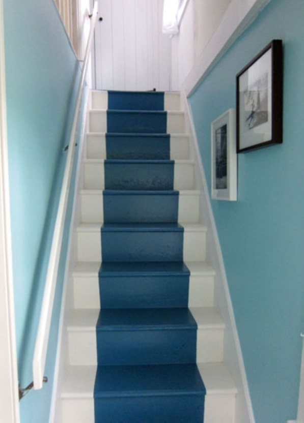 Painted staircase ideas which make your stairs look new 30