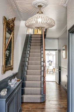 Painted staircase ideas which make your stairs look new 31