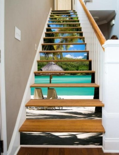 Painted staircase ideas which make your stairs look new 32