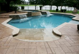 Pool waterfalls ideas for your outdoor space 04