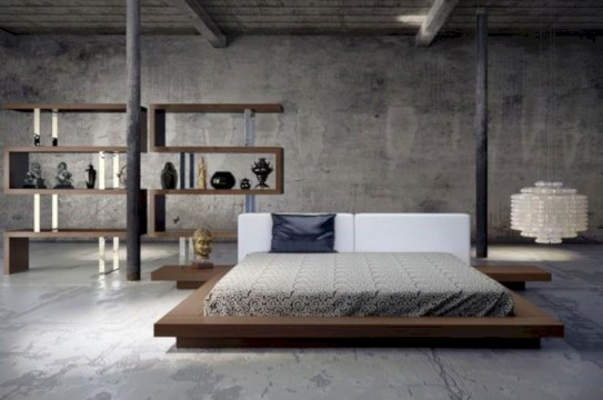 Raised platform bed to define your sleep space easily 01