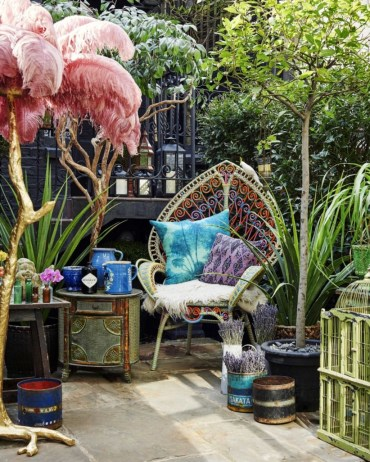 Shabby chic and bohemian garden ideas 28