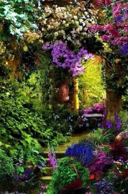 Shabby chic and bohemian garden ideas 40