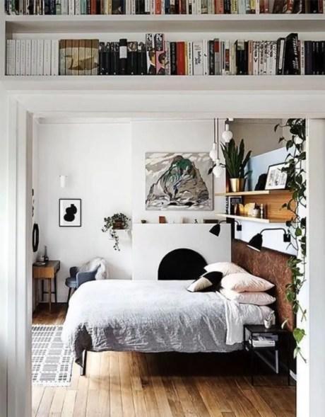 Stunning bookshelves ideas for bedroom decoration 03