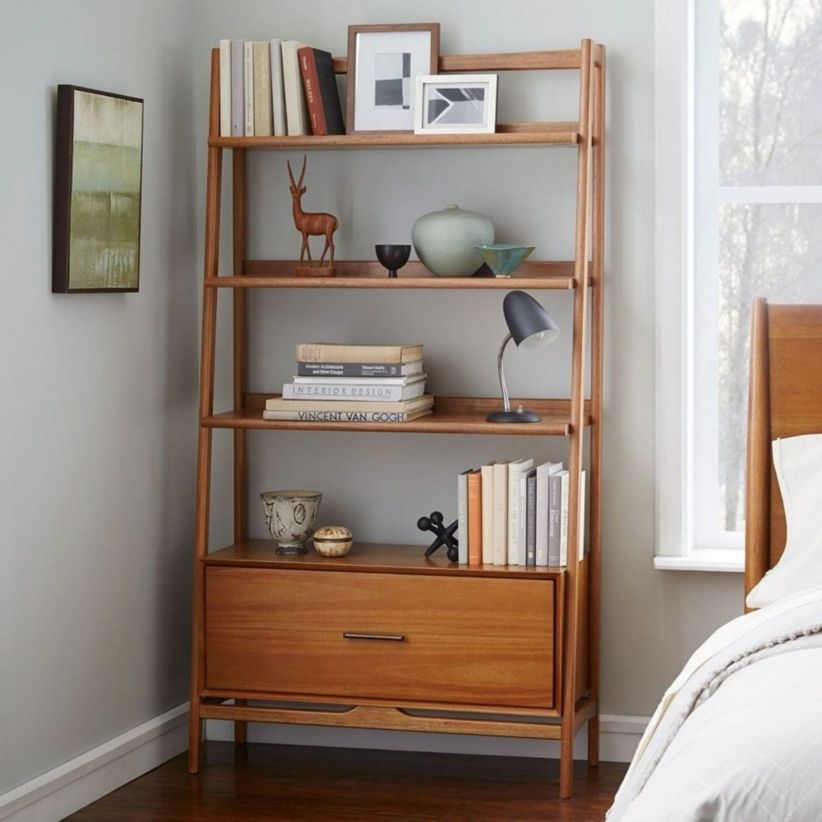 Stunning bookshelves ideas for bedroom decoration 06