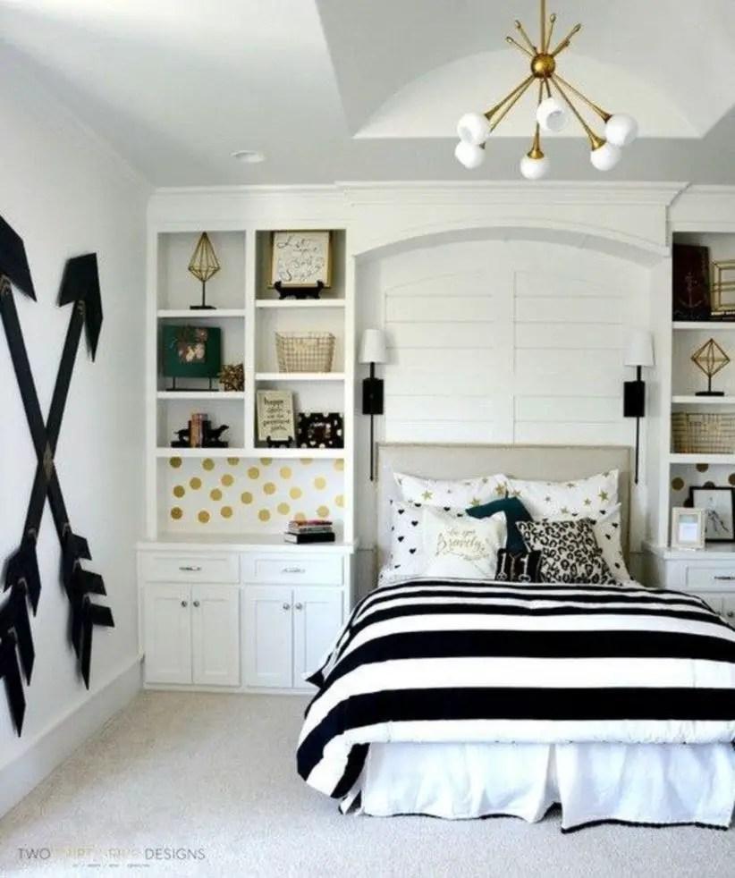Stunning bookshelves ideas for bedroom decoration 15