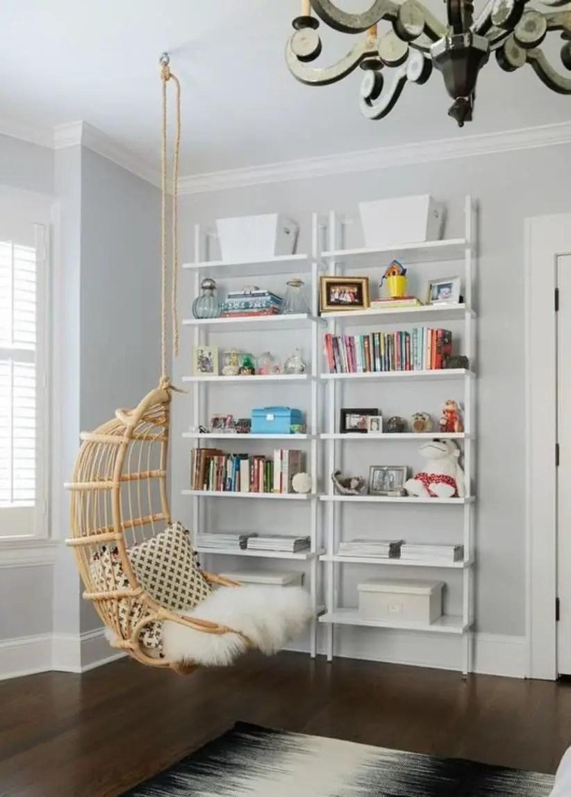 Stunning bookshelves ideas for bedroom decoration 29