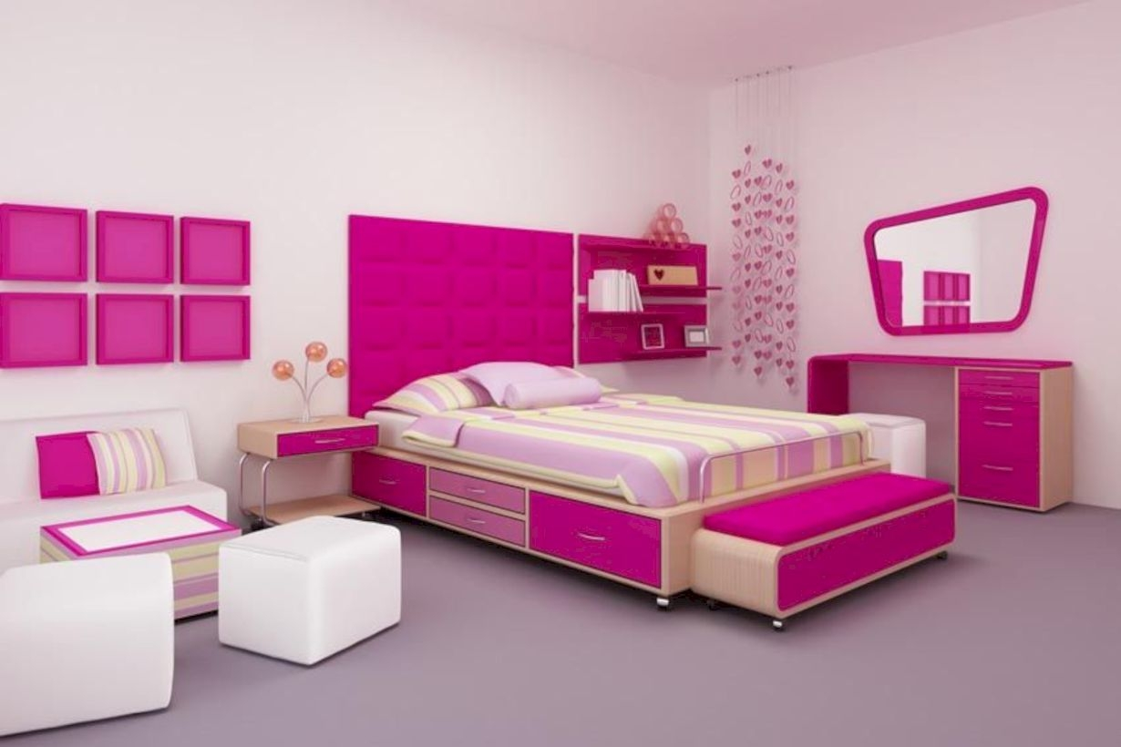 39 Stunning Ideas For Small Rooms Teenage Girl Bedroom