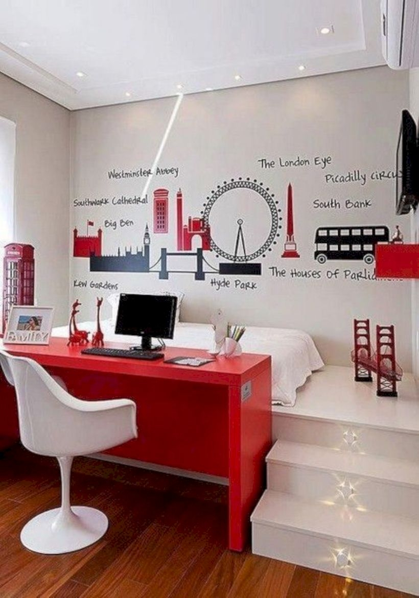 Stunning ideas for small rooms teenage girl bedroom 36