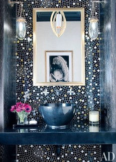 Stunning mosaic tiled wall for your bathroom 11