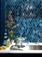 Stunning mosaic tiled wall for your bathroom 31