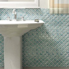 Stunning mosaic tiled wall for your bathroom 34