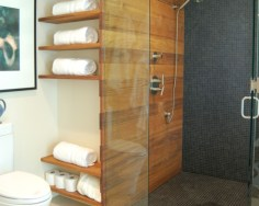 Stunning wood accents to refresh your bathroom 02