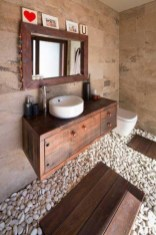 Stunning wood accents to refresh your bathroom 03