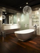 Stunning wood accents to refresh your bathroom 10