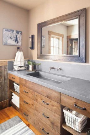 Stunning wood accents to refresh your bathroom 15