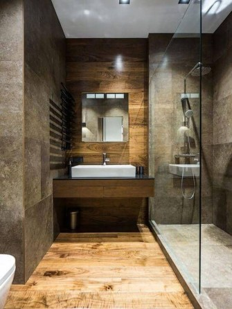 Stunning wood accents to refresh your bathroom 20