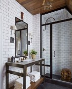 Stunning wood accents to refresh your bathroom 23