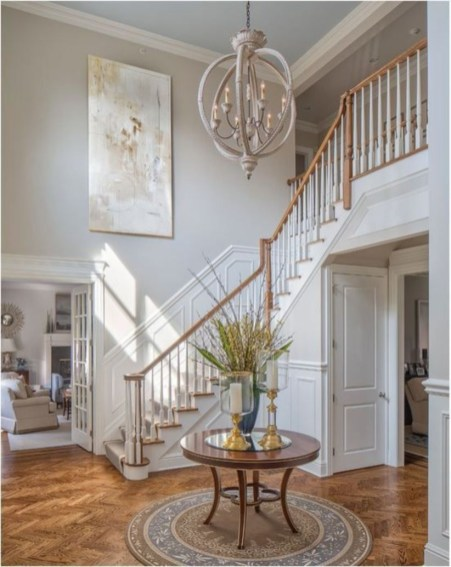 Ways to decorate with chandelier over the stairs 02