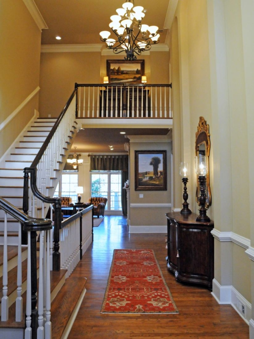 Ways to decorate with chandelier over the stairs 08