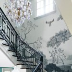 Ways to decorate with chandelier over the stairs 14