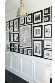 White wall and picture frames in hallway decorating ideas 05
