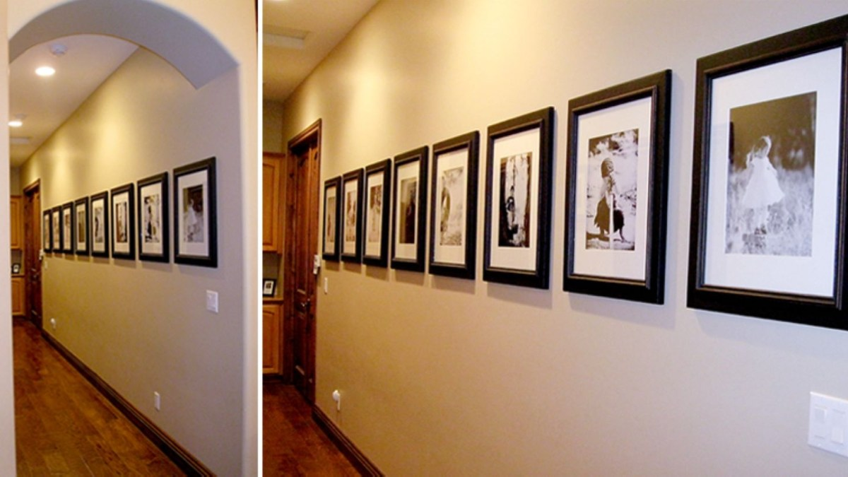 32 White Wall and Picture Frames in Hallway Decorating Ideas