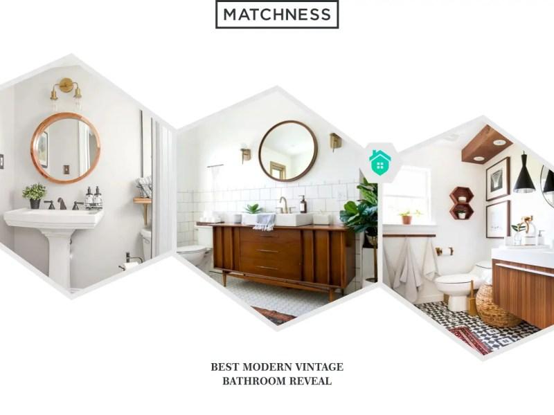 21. modern vintage bathroom