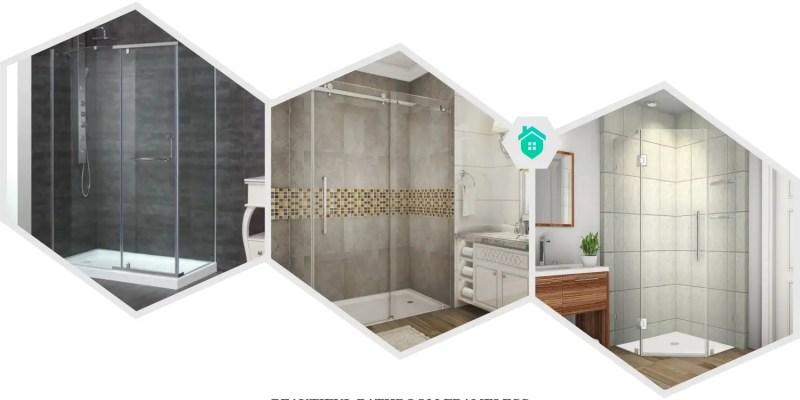 22. bathroom frameless shower glass