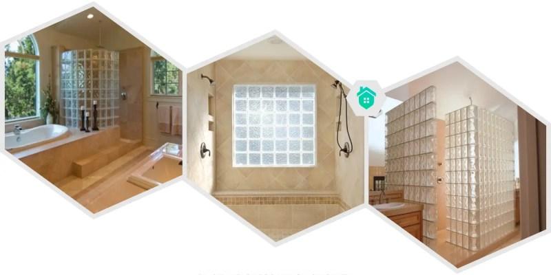 24. glass brick shower
