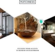 33. wood accents bathroom