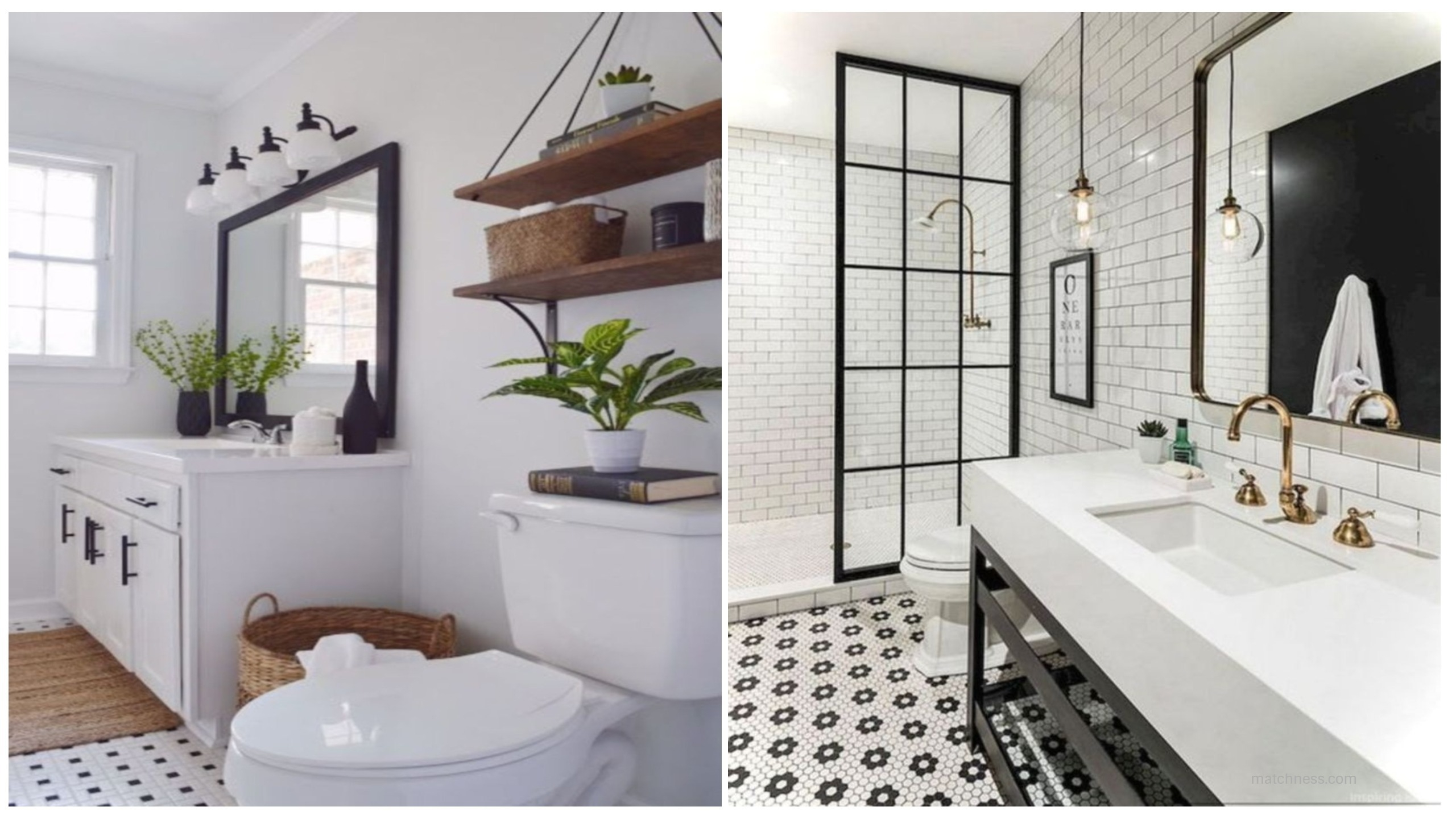 17 beautiful and modern farmhouse bathroom design ideas for Beige and black bathroom ideas
